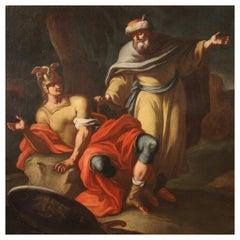 18th Century Oil on Canvas Italian Antique Mythological Painting, 1770