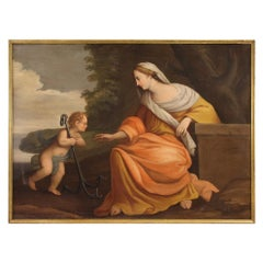 18th Century Oil on Canvas Italian Antique Religious Painting, 1770