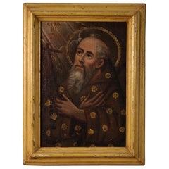 18th Century Oil on Canvas Italian Antique Religious Painting, 1780