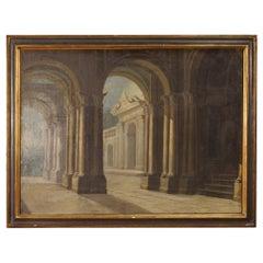 18th Century Oil on Canvas Italian Architecture Painting, 1780