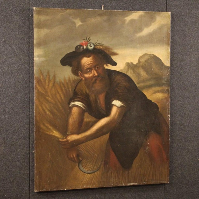 18th Century Oil on Canvas Italian Character Painting, 1780 For Sale 2