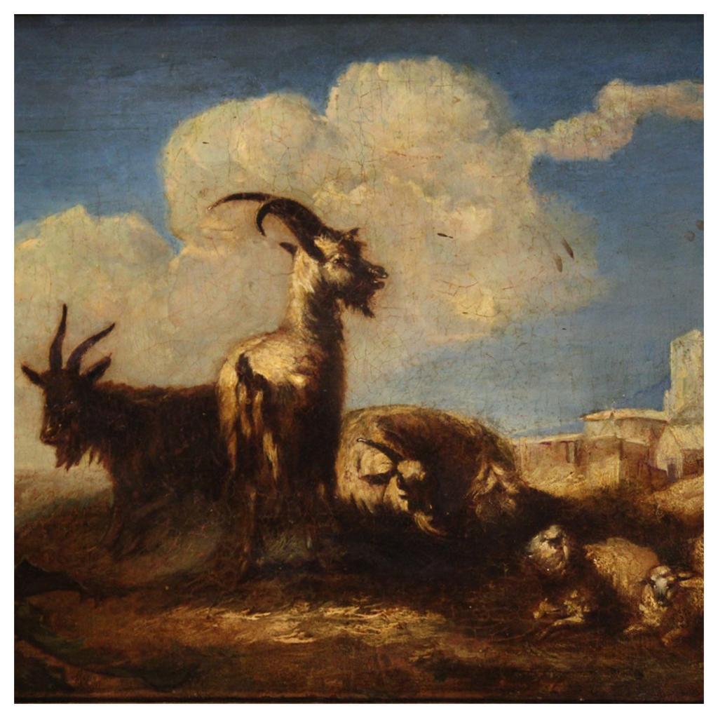 18th Century Oil on Canvas Italian Landscape Painting, 1750