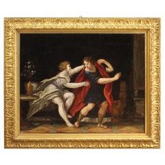 18th Century Oil on Canvas Italian Mythological Painting, 1780