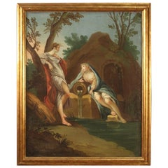 18th Century Oil on Canvas Italian Painting Cymon and Iphigenia, 1780