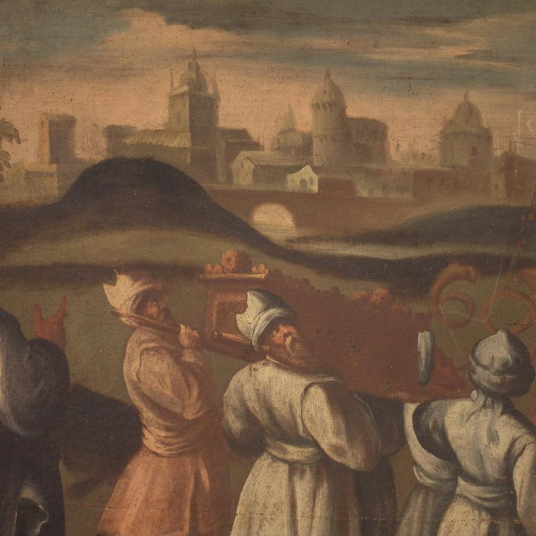 18th Century Oil on Canvas Italian Painting Historical / Biblical Subject, 1720 For Sale 7
