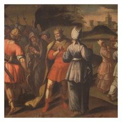 18th Century Oil on Canvas Italian Painting Historical / Biblical Subject, 1720