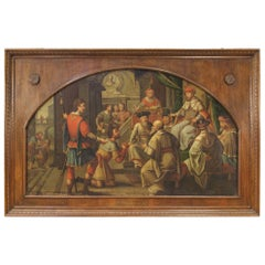 18th Century Oil on Canvas Italian Painting The Judgment, 1750