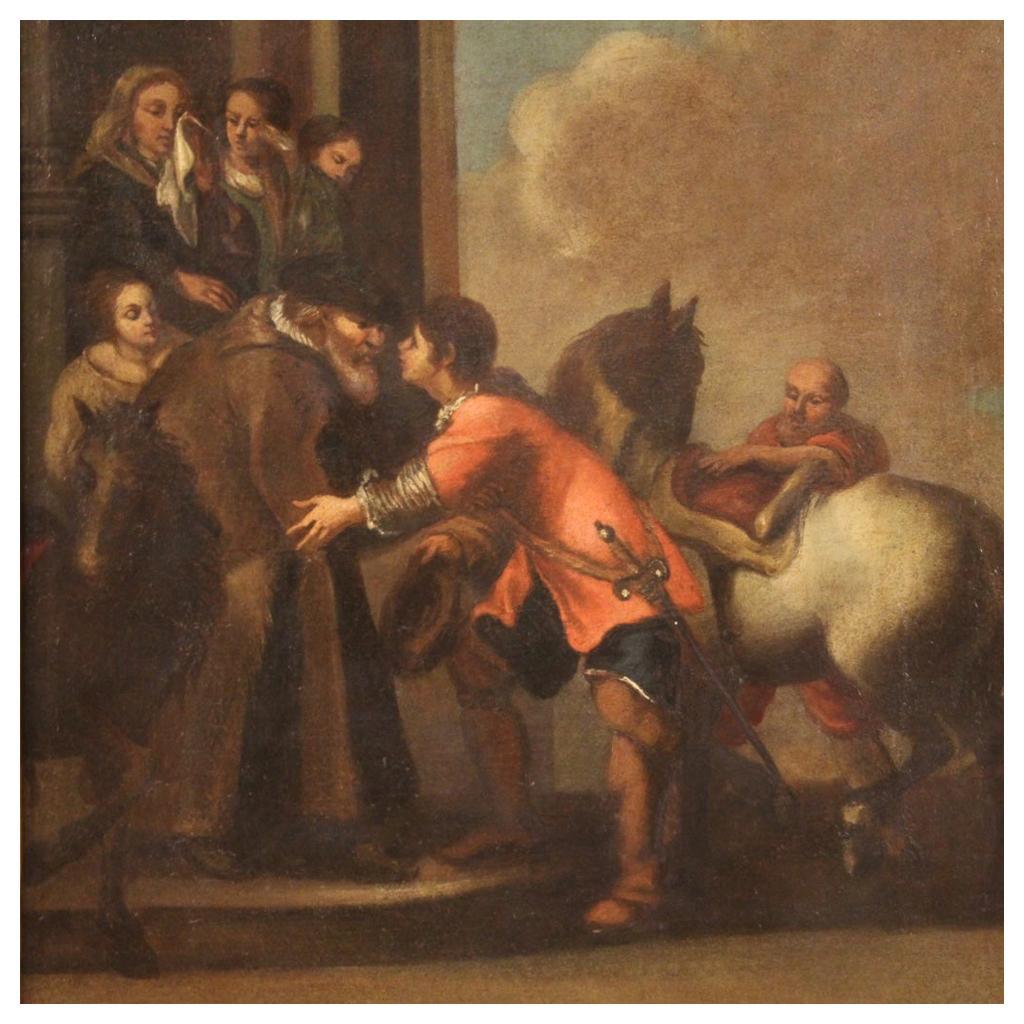 18th Century Oil on Canvas Italian Religious Painting, 1720