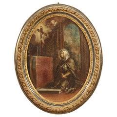 18th Century Oil on Canvas Italian Religious Painting, 1780