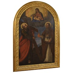 18th Century Oil on Canvas Italian Religious Painting Altarpiece, 1770