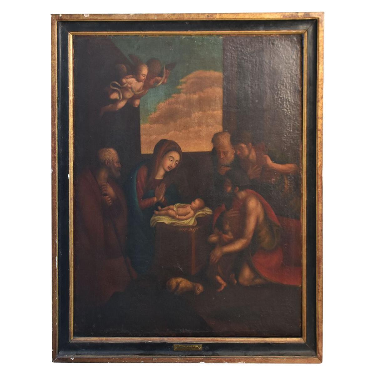 18th Century Oil on Canvas Italian School
