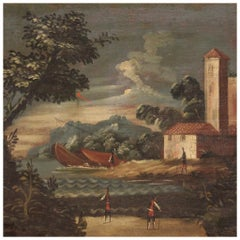 18th Century Oil on Canvas Italian Seascape Painting, 1770