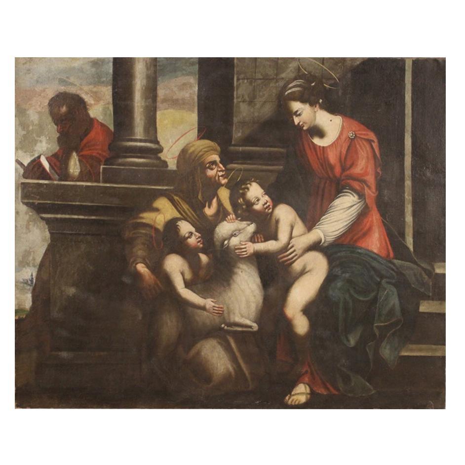 18th Century Oil on Canvas Religious Italian Painting, 1780