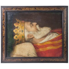 18th Century Oil on Canvas the King