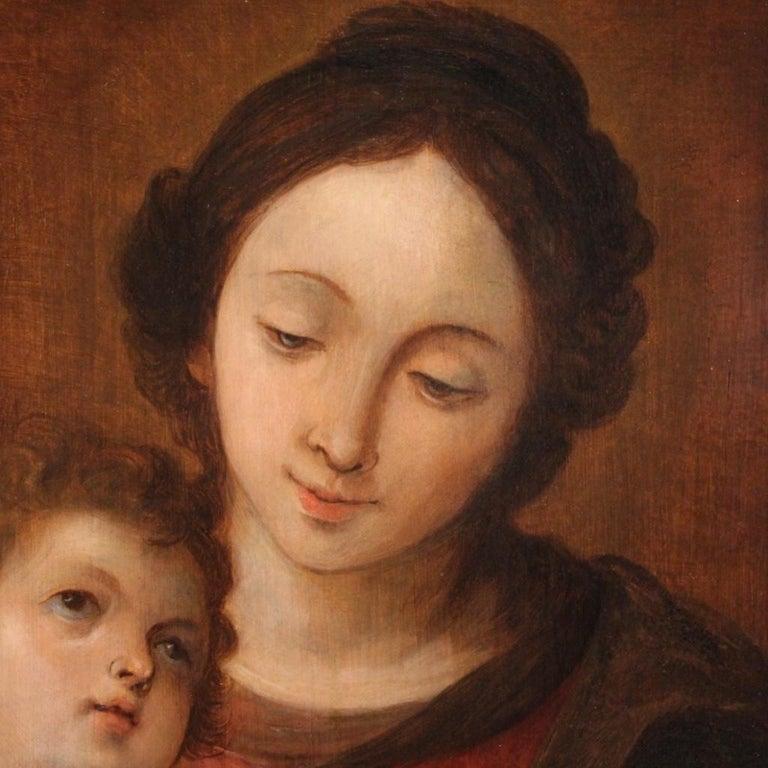 Early 18th Century 18th Century Oil on Panel Italian Religious Painting Virgin Mary, 1720