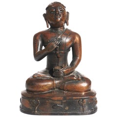 18th Century or Earlier Bronze Buddha South East Asian