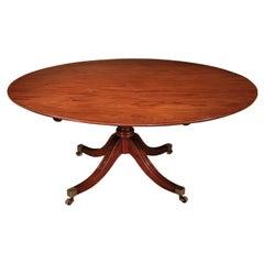 18th Century Oval Mahogany Breakfast Table