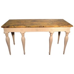 18th Century Painted Georgian Console with a Siena Marble Top after W. Kent