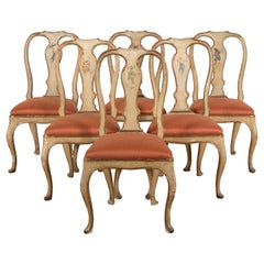 18th Century Painted Italian Dining Chairs