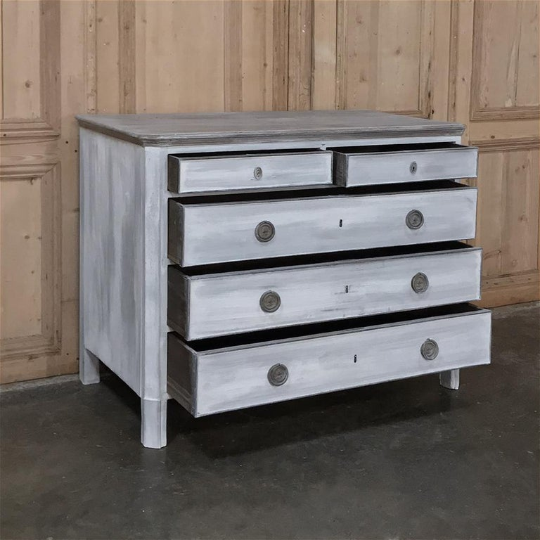 Oak 18th Century Painted Swedish Chest of Drawers For Sale