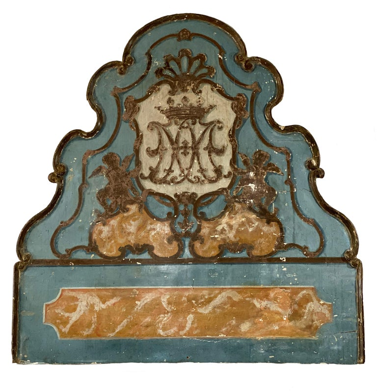 Louis XV 18th Century Painted Venetian Bed or Headboard For Sale