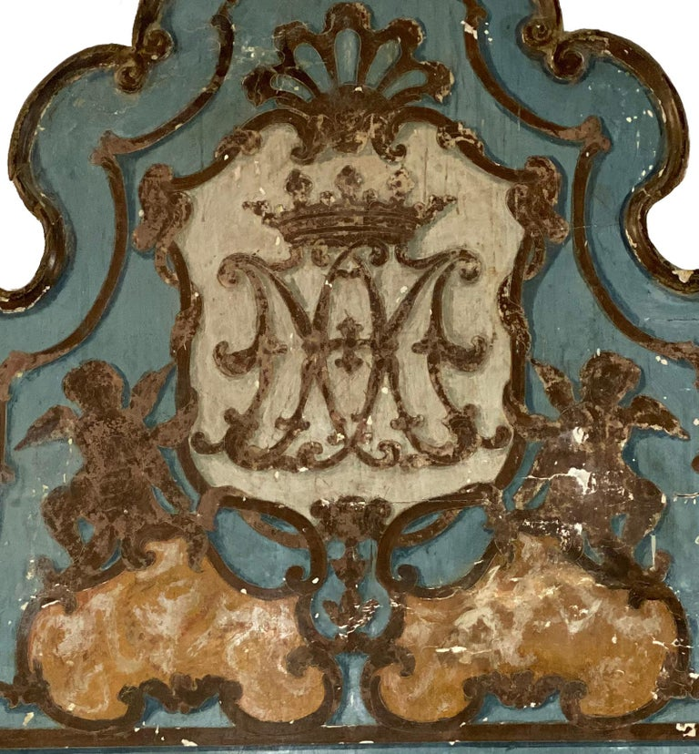 Italian 18th Century Painted Venetian Bed or Headboard For Sale