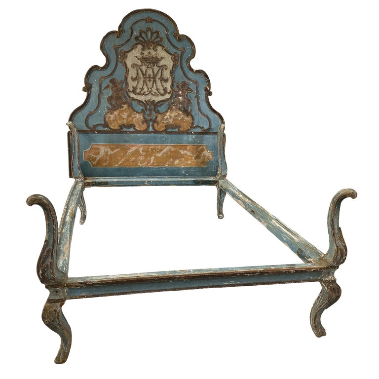 18th Century Painted Venetian Bed or Headboard For Sale