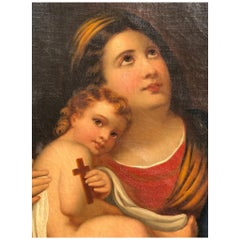18th Century Painting with Painting Depicting The Madonna and Child