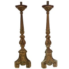 18th Century Pair of Giltwood Spanish Torchère