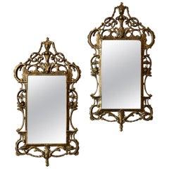 18th Century Pair of English Giltwood Georgian Mirrors