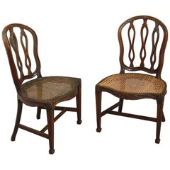 18th Century Pair of George III Mahogany Chairs in the Manner of James Wyatt