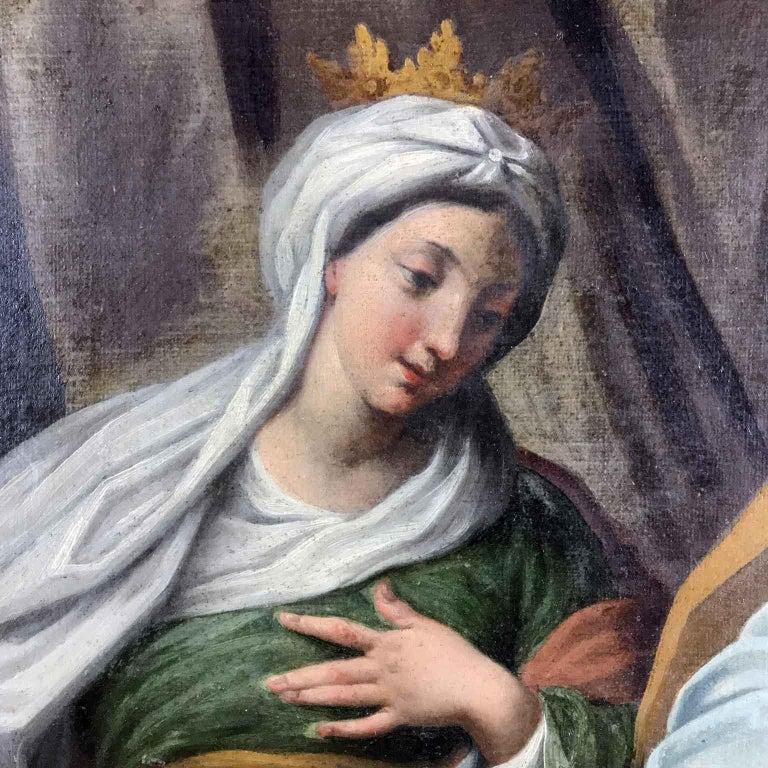 18th Century Pair of Italian Biblical Paintings Esther before Ahasuerus For Sale 4
