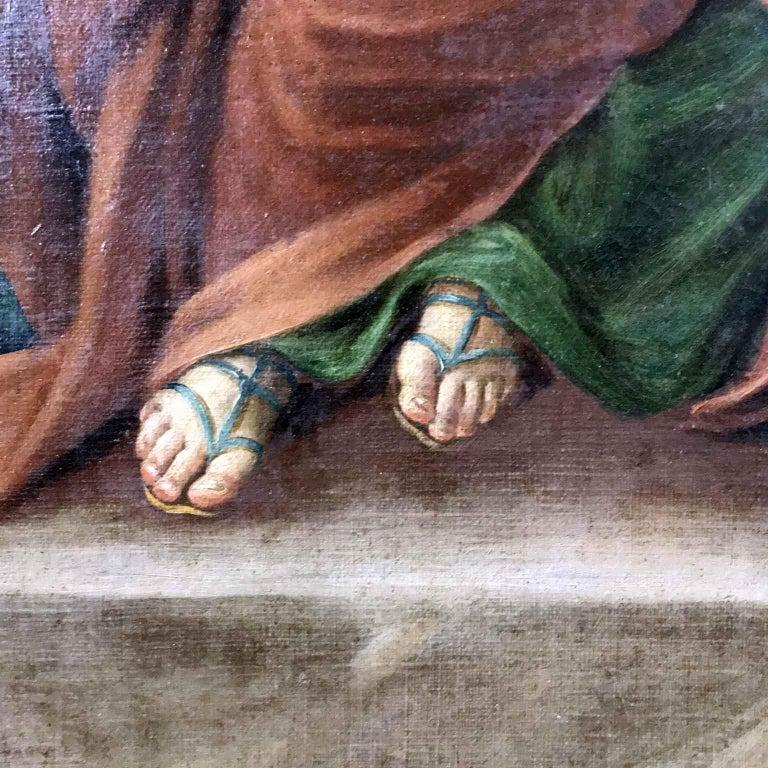 18th Century Pair of Italian Biblical Paintings Esther before Ahasuerus For Sale 5