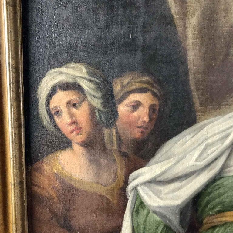 18th Century Pair of Italian Biblical Paintings Esther before Ahasuerus For Sale 6