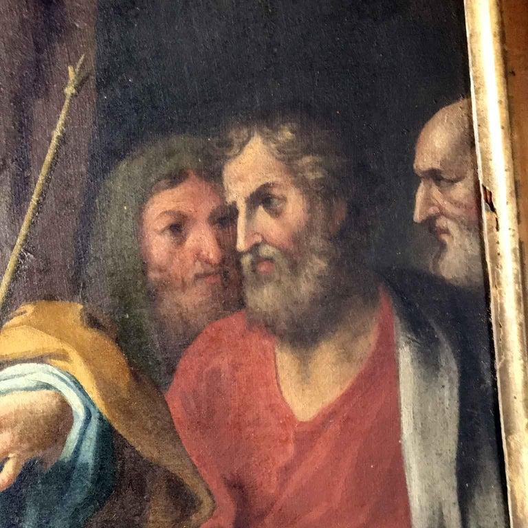 18th Century Pair of Italian Biblical Paintings Esther before Ahasuerus For Sale 7