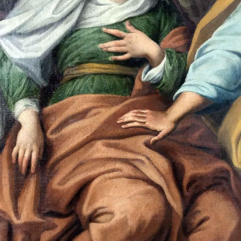 18th Century Pair of Italian Biblical Paintings Esther before Ahasuerus For Sale 9