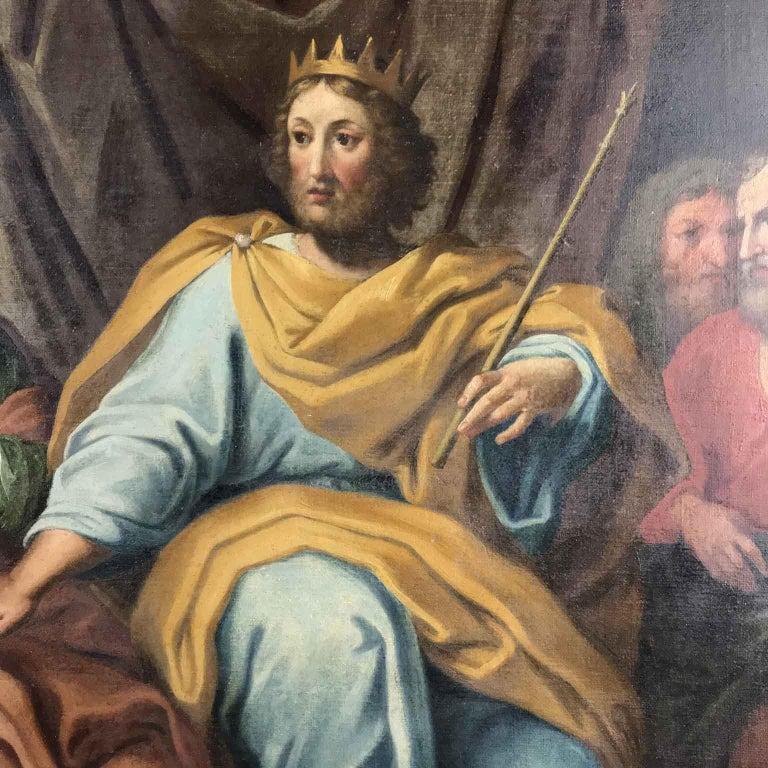 18th Century Pair of Italian Biblical Paintings Esther before Ahasuerus For Sale 10