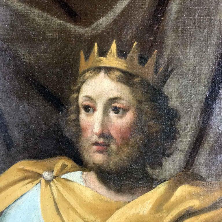 18th Century Pair of Italian Biblical Paintings Esther before Ahasuerus For Sale 11