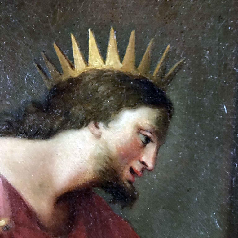 18th Century Pair of Italian Biblical Paintings Esther before Ahasuerus For Sale 2