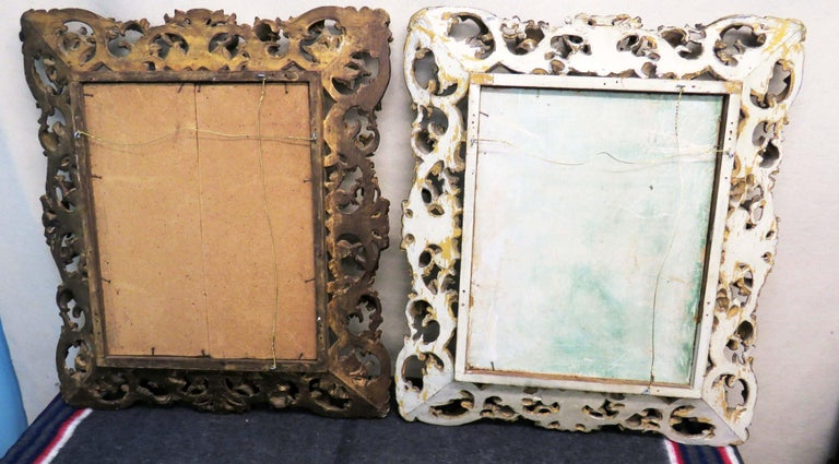Georgian 18th Century Pair of Italian Florentine Giltwood Wall Mirrors For Sale