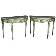 Neoclassical Demi-lune Tables