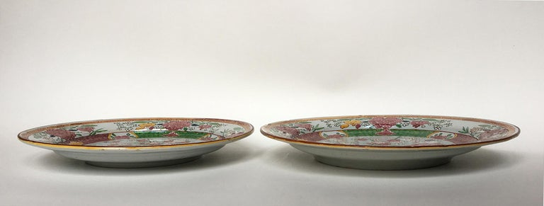 18th Century Pair of Italian Maiolica Dishes Milano, circa 1770 For Sale 12