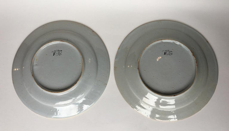 Other 18th Century Pair of Italian Maiolica Dishes Milano, circa 1770 For Sale