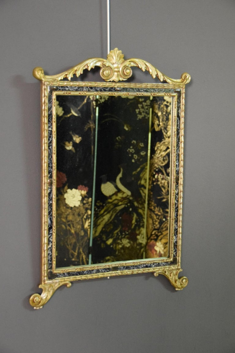 18th Century, Pair of Italian Neoclassical Carved and Giltwood Mirrors For Sale 13