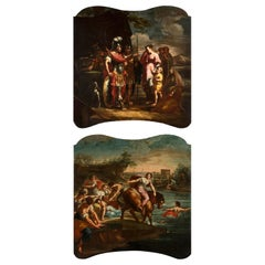 18th Century, Pair of Italian Paintings with Stories of Rome by Felice Cervetti