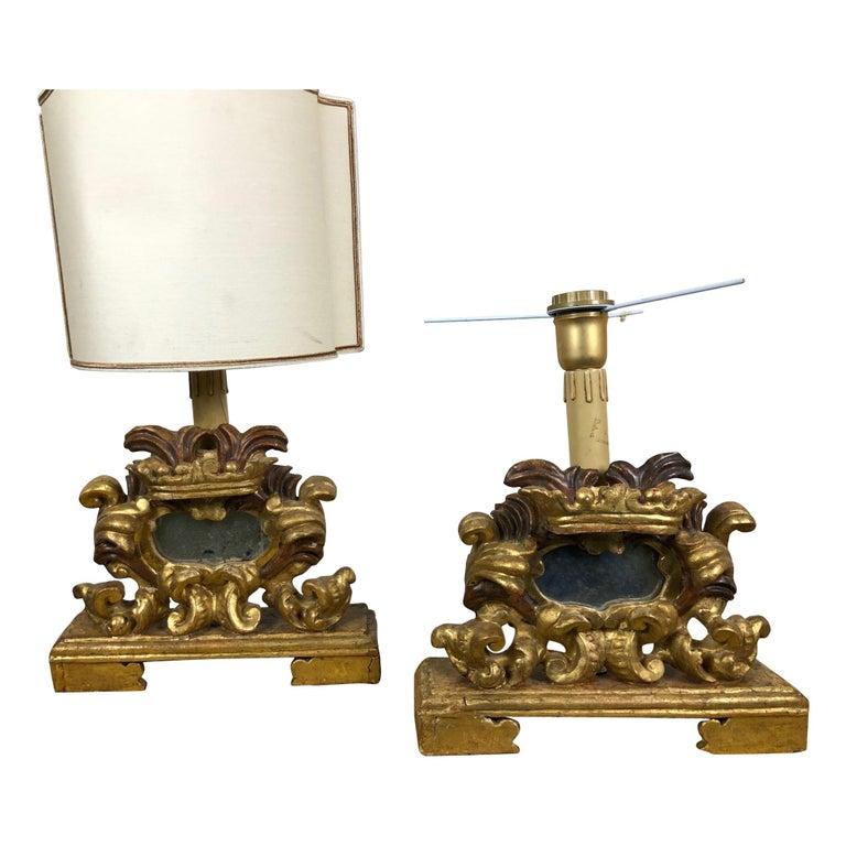 18th Century Pair of Louis XIV Period Italian Cartaglorie For Sale