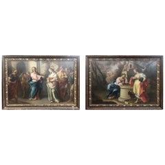 18th Century Pair of Paintings Pietro Bardellino, 1770s