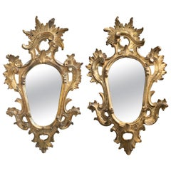18th Century Pair of Spanish Isabelline Gold Guild Mirrors
