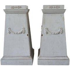 18th Century Pair of Swedish Gustavian Pedestals
