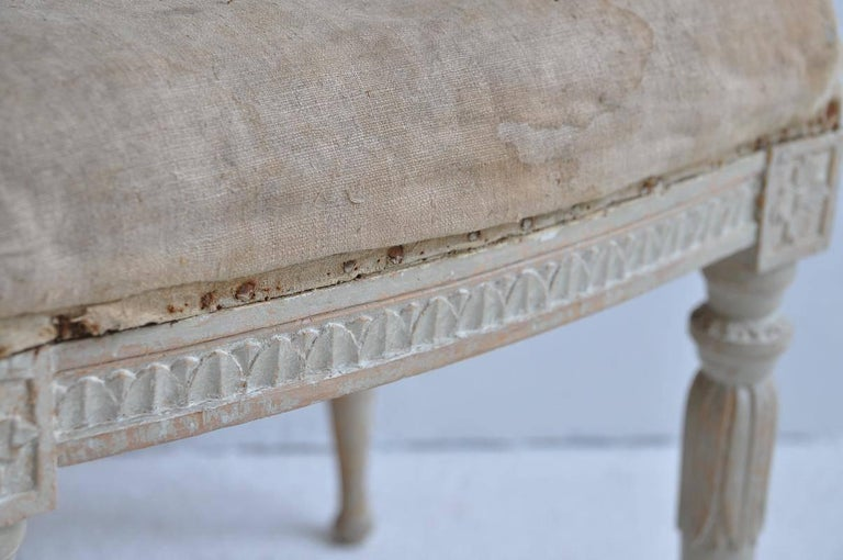 18th Century Pair of Swedish Gustavian Period Signed Footstools from Stockholm In Excellent Condition For Sale In Wichita, KS